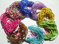 60pcs New Fashion Disco tiny crystal beads Bangle Bracelet