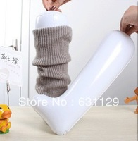 Free Shipping Wholesale 10 pcs/lot Inflatable Useful Long Boot Shoe Trees Stand Holder Stretcher Support Shaper Plastic