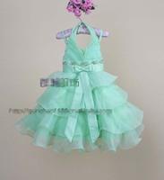 Latest princess party dress girl Bow boods Sequins Layering falbala Strap tutu dress kid holiday dress Clubwear EMS 2388
