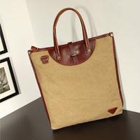 Cotton shoulder bag female bag personality fashionable casual vertical square canvas bag handbag cross-body women's brief