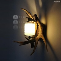 Free shipping new arrival 2014Vintage rustic fashion staghorns wall lamp