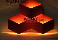 Led wall lamp cubic ice wall lamp box wall lamp iron wall lamp