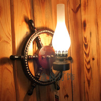 American fashion vintage wood wall lamp  bar lights aisle lights lamps