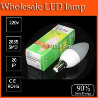 100pcs/lot LED bulb lamp High brightness e14 candle lamp 3w SMD Cold white/warm white AC220V 230V 240V Free shipping