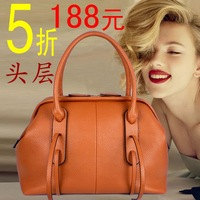 Location 8198 autumn and winter 2013 fashionable casual one shoulder handbag cross-body women's genuine leather handbag