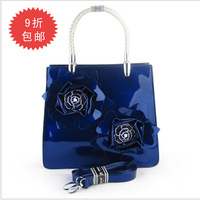 high quality 2013 handbag evening bag fashion bag fashion patent leather handbag women's japanned leather  luggage bags