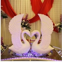 Wedding photography photo props supplies bubble sandstone swan Roman white swan swan road led decoration products