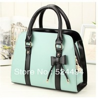 Free Shipping 2013 new arrive pu leather Messenger bag bow ancient stereotypes diagonal handbags totes for female xqw889
