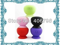 2013 Hot Sale Funny portable waterproof shower bluetooth speaker, enable adsorb on wall and car free shipping 10pcs/lot