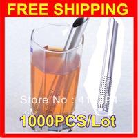 2013 Hotsale 1000 Filter Tea Balls Stainless Steel Tea Strainers Oblique Tea Stick Tube Tea Infuser Steeper