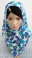QSJ020 Solid color new design long muslim scarf islamic long scarf
