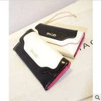 Black and white folding wallet new fashion women's wallet small cluth chain messenger bag evening bags purse high quality pu