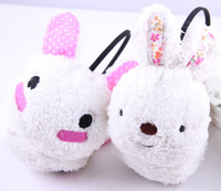 Free Shipping Lovely Rabbit fur earmuffs ear package thermal faux ear package earmuffs