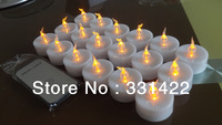 2013 Hot Selling In New York & Sydney Yellow Flicker Flameless Christmas Candles Led Tea Light Christmas Candle With Remote