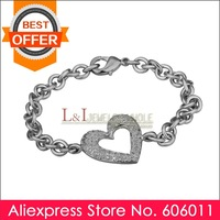 Min 10 piece/lot Exquisite Crystal with Platinum Plated Bracelet B031, Free Shipping
