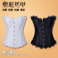 Laciness sexy shapewear steel buckle body shaping vest underwear