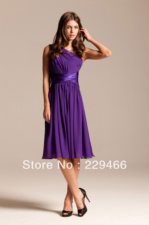 One Shoulder Mid Length Dresses