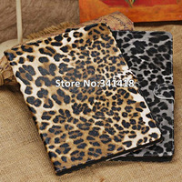 High Quality Luxury Retro Sexy Leopard Stand Cover Leather Case Bag Cover For Apple iPad Air Case For ipad 5 Case Free Shipping