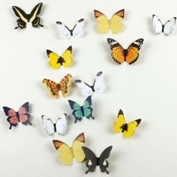 15pcs/set 3D Wall Stickers Paper Romantic Bedside Wall Butterfly Decoration Sticker