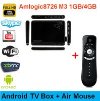media player box android  hd 1080p decoding installed XBMC support diffrent internet channels+ wholesale mini remote air mouse
