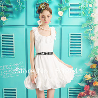 Free Shipping 2013 summer sweet dress  princess young girl slim chiffon one-piece dress