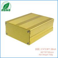 Free shipping aluminum case for aluminium extrusion enclosure 95*76*35mm 3.74*2.99*1.38inch