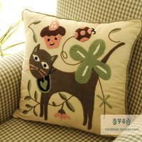 Free shipping Taro sofa cushion cover taro cartoon kaozhen fluid set rustic pillow cover
