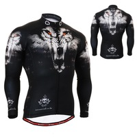 1801 Wolf Head / FIXGEAR Cycling Jersey & Pant / Road Mountain Bike Shirts Top & Bottom MTB Bicycle Clothing Long Sleeve S~3XL