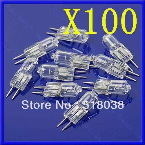 B39Free Shipping 100X 20W 20 Watt G4 12V Halogen Light Bulb Base JC Type(China (Mainland))