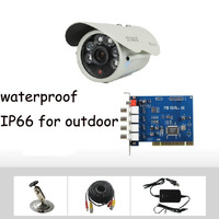 800TVL CMOS 1ch Kit CCTV DVR Day Night Waterproof Security Camera Surveillance Video System Home DIY CCTV systems