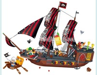 Banbao Pirate Ship 8702 Building Block Sets 850pcs Legoland Educational DIY Construction Bricks Toys For Children,Christmas Gift