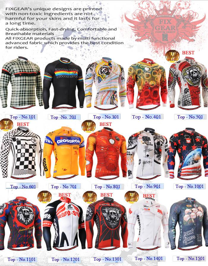 Alles in einem 01-15 von 47/fixgear langarm fahrradtrikot/Straße mountainbike tops shirts mtb fahrrad kleidung s~3xl