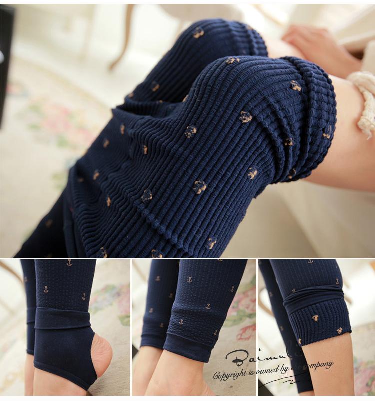 l027 утолщение мода зимний пузырь бархат якорь вертикальной полосой шаг на ноги тощий леггинсы случайные женские брюки