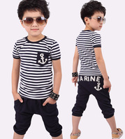 New 2013 summer clothing sets kids pants + Top, boys  girls clothes children tracksuit free shipping