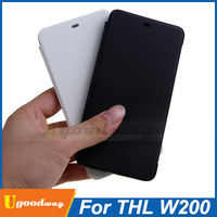 100% Original THL W200 Flip Case Protective Cover White Black