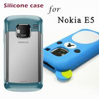 Silicon case for Nokia E5 Lovely 3D cartoon bear design original soft back cover E5 phone cases mobile coversFree shipping