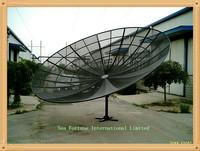 2.4m 8ft ~5m 16.4ft mesh  polar  Prime Focus C band  dish  Antenna  satelite TV antenna