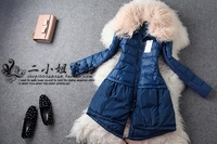 Lovable Secret - 2013 autumn and winter fashion small women's fur collar medium-long down coat  free shipping