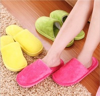 (Min order is $10)  Pure color with thick plush slippers at home