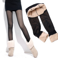 Autumn and winter slim meat thickening legging socks plus velvet thickening warm pants female solid color legging