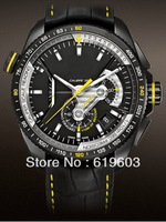 WholesaleTG  CAL1\10  New 2013 Luxury Mens Automatic Watch + Box & Leather belt watches Men automatic watches Wrist watch yellow
