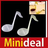 rising stars [MiniDeal] 1 X New Note Tea Spoon Strainer Teaspoon Infuser Filter Hot hot promotion!