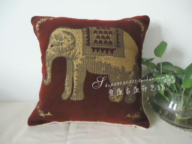 SMC020 lã bordados elefante animais abraçando almofadas travesseiros esteiras capas para cadeiras sofá cama de piso frete grátis()