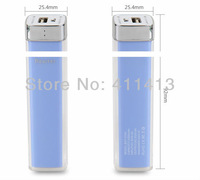 20pcs/lot New arrival emergency portable Lipstick 2600mAh USB power bank charger for iphone ipad Samsung Galaxy HTC Blackberry