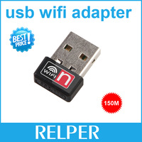 free shipping Mini 150Mbps 150M USB WiFi Wireless Network Card 802.11 n/g/b LAN Adapter with Antenna Free Shipping+Retail Box