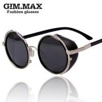 Gimmax vintage sunglasses female star style sunglasses 2013 male personality circle sun glasses