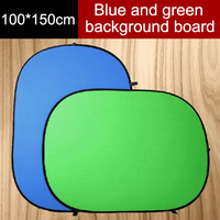 2015 New 100*150cm collapsible reflector, 2 in 1 blue and green background board,  folding backdrops,Photo Studio Accessories