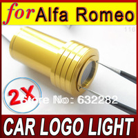 2Pcs Top Quality Car Door Decoration Welcoming LED Light Logo Shadow Step Projector Ghost Laser Lamp fit for Alfa Romeo
