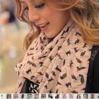 Hot Sale  Fashion Scarves for Womens Chiffon Velvet Geometric Scarves Solemn and Elegant