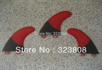 free shipping surfboard fin/fcs fins/fiberglass/carbon/ RED HALF CARBON